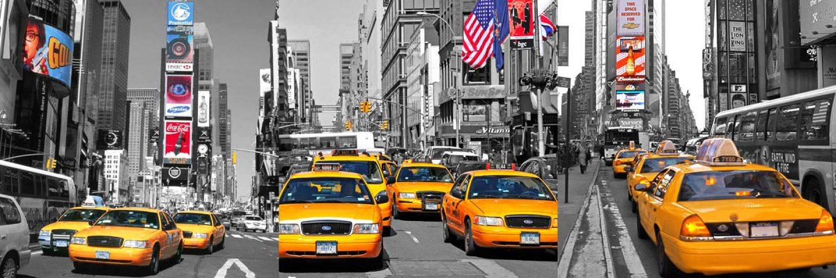 Set 3 canvas 25×25  ny taxis